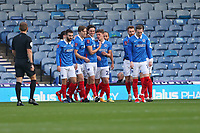 Football - 2020 / 2021 Emirates FA Cup - Round 2 - Portsmouth vs. Kings Lynn Town - Fratton Park<br /> <br /> Portsmouth celebrate there opening goal at Fratton Park <br /> <br /> COLORSPORT/SHAUN BOGGUST