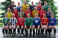 Fotball<br /> Norge<br /> 10.06.2011<br /> Foto: Morten Olsen, Digitalsport<br /> <br /> Lagbilde Norge kvinner<br /> Spillerne i draktene fra sine moderklubber<br /> The players in shirt from their orign club<br /> <br /> Back L-R: Eli Landsem - Madeleine Giske - Elise Thorsnes - Gry Tofte Ims - Isabell Herlovsen - Maren Mjelde<br /> Middle L-R: Ingrid Ryland - Cecilie Pedersen - Lene Mykjåland - Ingvild Stensland - Marita Skammelsrud Lund - Nora Holstad Berge - Emilie Bosshard Haavi<br /> Front L-R: Hedda Strand Gardsjord - Leni Larsen Kaurin - Caroline Knutsen - Ingrid Hjelmseth - Erika Skarbø - Trine Rønning - Runa Vikestad<br /> <br /> Lisa-Marie Woods og Guro Knutsen Mienna was not present