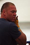 Shane Cameron prepares for his sparring session.<br /> Boxing - Shane Cameron public sparring session. Dockside, Wellington, Friday 20 June 2008. Photo: Dave Lintott/PHOTOSPORT