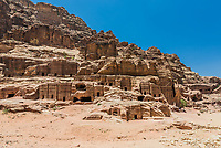 Street of Facades in Nabatean Petra Jordan middle east