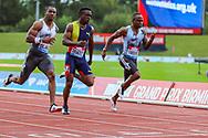 Yohan BLAKE of Jamaica wins the Men's 100m Final during the Muller Grand Prix at Alexander Stadium, Birmingham, United Kingdom on 18 August 2019.