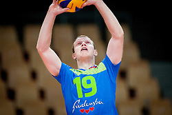 Matija Jereb #19 of Slovenia during volleyball match between National Teams of Slovenia and FRY Macedonia of 2014 CEV Volleyball European League Man - Pool B, on July 5, 2014, in Arena Ljudski vrt Lukna, Maribor, Slovenia, Slovenia. Photo by Urban Urbanc / Sportida