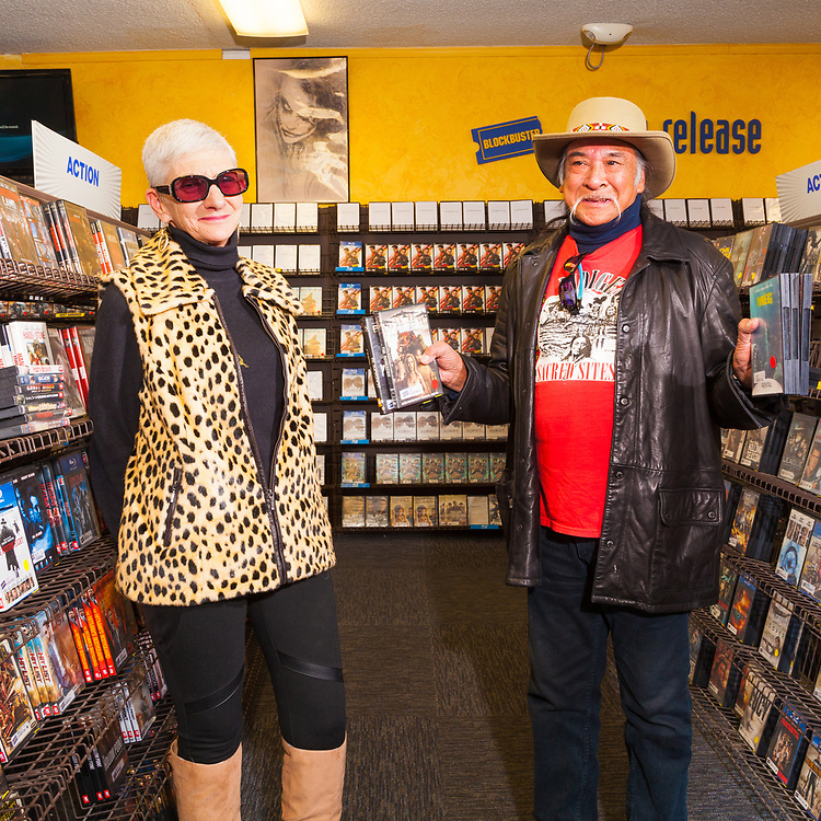 David & Julie DeOcampo, shopping at The last remaining Blockbuster Video store in Bend Oregon