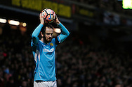 Burton Albion defender John Brayford (3) during the The FA Cup 3rd round match between Watford and Burton Albion at Vicarage Road, Watford, England on 7 January 2017. Photo by Richard Holmes.