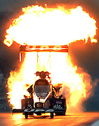 Feb 09, 2007 - Pomona, California, USA - Top Fuel driver BOB VANDERGRIFF'S dragster explodes in a ball of fire during qualifying Friday February 9, 2007 at the 47th annual CARQUEST Auto Parts NHRA Winternationals at Fairplex in Pomona. <br /> ©ZP/Exclusivepix