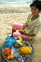 Filipina Fruit Vendor,  - The best, and healthiest, snacks available in Puerto Galera are the  locally grown tropical fruits that grow in abundance in the area's tropical climate.