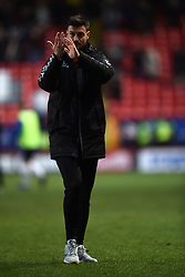 Charlton Athletic assistant manager Johnnie Jackson applauds the home fans at full time