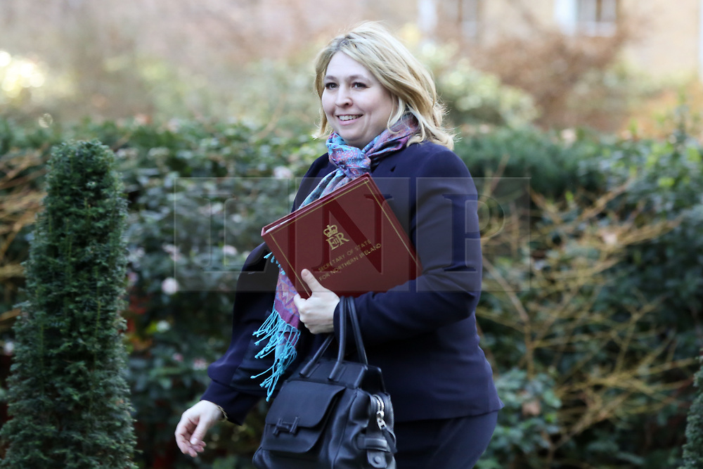 © Licensed to London News Pictures. 19/02/2019. London, UK. Karen Bradley - Secretary of State for Northern Ireland arrives in Downing Street for the weekly Cabinet meeting. Photo credit: Dinendra Haria/LNP