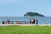 Umikaze park, Yokosuka with Tokyo Bay and Sarushima Island