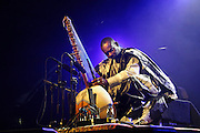 Nederland, Nijmegen, 12-5-2008..MusicMeeting. Toumani Diabaté, cora-speler uit Mali, speelt op de slotavond. ..Foto: Flip Franssen