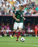 Football - 2018 FIFA World Cup - Group F: Germany vs. Mexico<br /> <br /> Hector Moreno of Mexico controls the ball at Luzhniki Stadium, Moscow.<br /> <br /> COLORSPORT/IAN MACNICOL