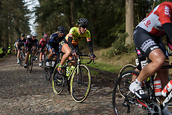 Janneke Ensing reaches the end of the first set of cobbles at Ronde van Drenthe 2017. A 152 km road race on March 11th 2017, starting and finishing in Hoogeveen, Netherlands. (Photo by Sean Robinson/Velofocus)