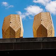 Snøhetta-designed beehives at Vulkan in Oslo
