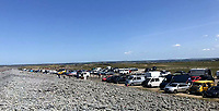 Peopleout and about  at Westward Ho! Beach  Bideford  North Devon By Frances Langbridge
