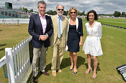 Left to right, DANIEL RIEDO ceo Jaeger-LeCoultre, VISCOUNT & VISCOUNTESS COWDRAY and ZAHRA KASSIM-LAKHA Director, UK Market and Global Strategy of Jaeger-LeCoultre at the Jaeger-LeCoultre Gold Cup Polo Final held at Cowdray Park Polo Club, Midhurst, West Sussex on 19th July 2015