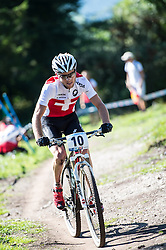 08.09.2012, Cross-Country Olympic, Saalfelden, AUT, UCI, Mountainbike und Trial Weltmeisterschaften, Herren Elite Cross-country Weltmeisterschaft, im Bild Lukas Flueckinger (SUI) // during UCI Mountainbike and Trial World Championships, Men Elite Cross-country World Championships at the Cross-Country Olympic, Saalfelden, Austria on 2012/09/08. EXPA Pictures © 2012, PhotoCredit: EXPA/ Eric Fahrner