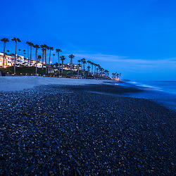 San Clemente CA beach at night photo. San Clemente is a popular coastal beach city along the Pacific Ocean in Orange County Southern California. Copyright ⓒ 2017 Paul Velgos with All Rights Reserved.