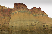The Cathedral Rock feature of the John Day Fossil Beds National Monument; Oregon.