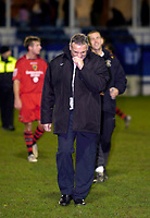 Photo: Leigh Quinnell.<br /> Luton Town v Cardiff City. Coca Cola Championship. 01/01/2007. Cardiff manager Dave Jones at the end of the game.