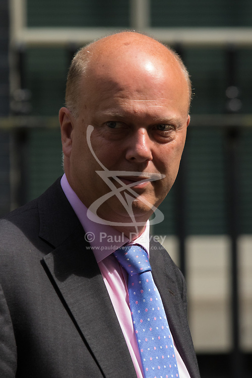 Downing Street, London, June 16th 2015. Chris Grayling, Leader of the House of Commons, leaves 10 Downing Street following the weekly cabinet meeting.