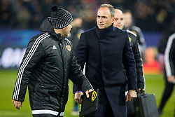 Darko Milanic, head coach of NK Maribor and Zlatko Zahovic during Group E football match between NK Maribor and FC Sevilla in 6th Round of UEFA Champions League, on December 6, 2017 in Ljudski vrt, Maribor, Slovenia. Photo by Ziga Zupan / Sportida