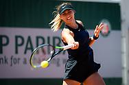 Paula Badosa of Spain during the first round of the Roland-Garros 2021, Grand Slam tennis tournament on May 30, 2021 at Roland-Garros stadium in Paris, France - Photo Rob Prange / Spain ProSportsImages / DPPI / ProSportsImages / DPPI