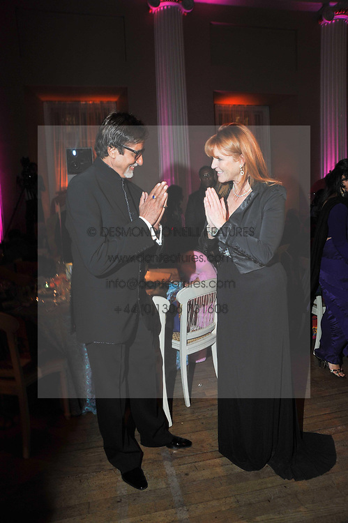 Bollywood superstar Amitabh Bachcha and SARAH, DUCHESS OF YORK at the Royal Rajasthan Gala 2009 benefiting the Indian Head Injury Foundation held at The Banqueting House, Whitehall, London on 9th November 2009.