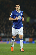 Gareth Barry of Everton looks on. Capital one cup semi final 1st leg match, Everton v Manchester city at Goodison Park in Liverpool on Wednesday 6th January 2016.<br /> pic by Chris Stading, Andrew Orchard sports photography.