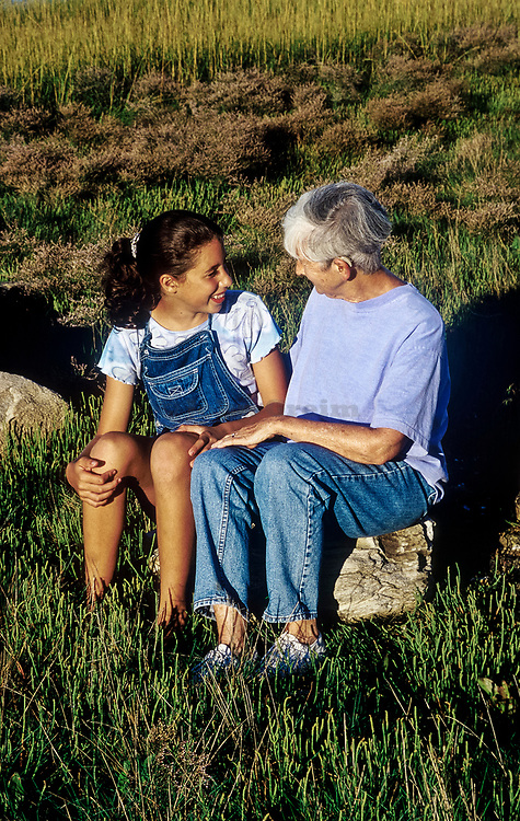 Grandmother and grandaughter sharing quality time together.