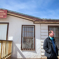Dale West, Director of the Navajo Criminal Investigation  division, stand outside their office in Window Rock Thursday.