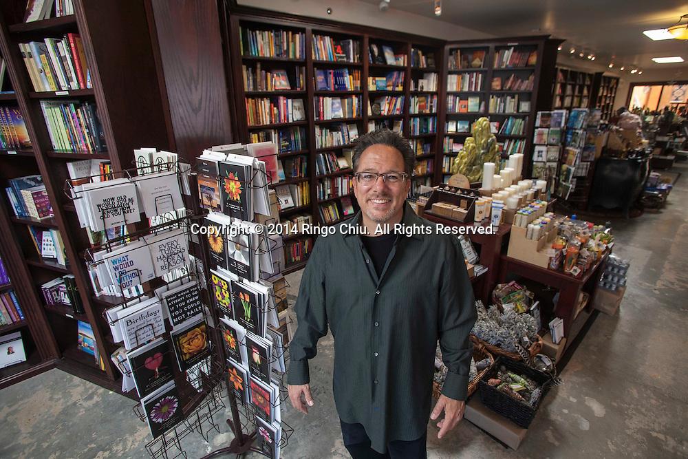 Jeffrey Segal, owner Mystic Journey Bookstore in Venice.<br /> (Photo by Ringo Chiu/PHOTOFORMULA.com)