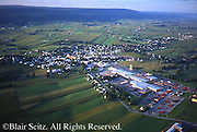 Aerial, Mifflin Co., PA, Belleville town and Farms Aerial Photograph Pennsylvania
