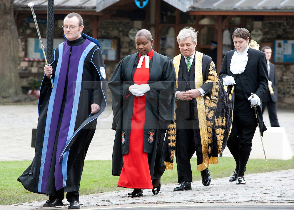 © London News Pictures. 21/03.2013. Mr Speaker the Right Honorable John Bercow attends the enthronment of the new Archbishop of Canterbury the Most Rev. Justin Welby at Canterbury Cathedral in Canterbury, Kent. Photo credit should read Manu Palomeque/LNP