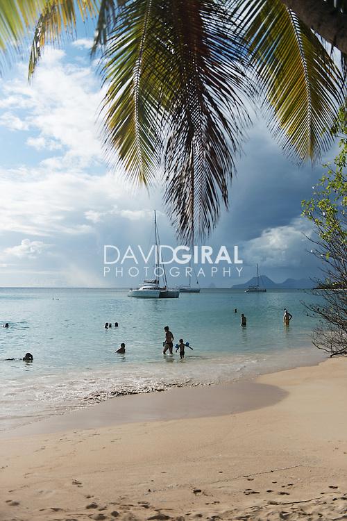 Plage de Sainte Anne, Sainte Anne Beach, Le Marin, Martinique, France