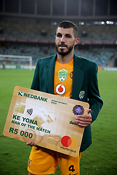 10032018 (Durban) Daniel Cardoso man of the match after winning a 3-1 lead against Stellenbosch FC to advance to the next round of the Nedbank Cup at the Moses Mabhida Stadium. Amakhosi went down 3-1 to arch-rivals Orlando Pirates in a tense Soweto derby match last weekend where they lost ground in their league title chase.Picture: Motshwari Mofokeng/African News Agency/ANA
