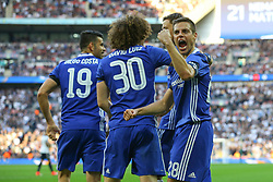 Cesar Azpilicueta of Chelsea celebrates Nemanja Matic of Chelsea goal, Chelsea 4-2 Tottenham Hotspur - Mandatory by-line: Jason Brown/JMP - 22/04/2017 - FOOTBALL - Wembley Stadium - London, England - Chelsea v Tottenham Hotspur - Emirates FA Cup Semi-Final
