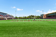 Wilson Field Football End Zone and the Keck Center for Science and Engineering