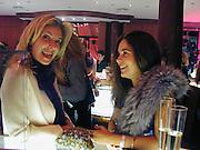 Arabella Bodie and Sylvia Bourne. Tiffany party. 13 December 2000. © Copyright Photograph by Dafydd Jones 66 Stockwell Park Rd. London SW9 0DA Tel 020 7733 0108 www.dafjones.com