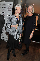 Left to right, DAME JACQUELINE WILSON and KATE ADIE at the 2011 Costa Book Awards held at Quaglino's, 16 Bury Street, London on 24th January 2012.