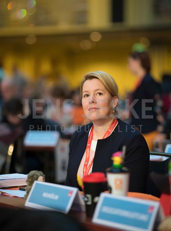 DEU, Deutschland, Germany, Berlin, 17.11.2018: Bundesfamilienministerin Dr. Franziska Giffey (SPD) beim Landesparteitag der Berliner SPD im Hotel Maritim.