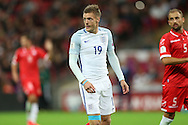 Jamie Vardy of England looking on. FIFA World cup qualifying match, european group F, England v Malta at Wembley Stadium in London on Saturday 8th October 2016.<br /> pic by John Patrick Fletcher, Andrew Orchard sports photography.