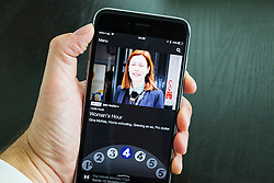 BBC IPlayer Radio streaming app showing Radio 4 on an iPhone 6 Plus smart phone