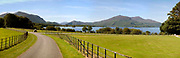 A panoramic view of the New Entrance at Muckross showing Lough Leane and the mountains.<br /> Picture by Don MacMonagle
