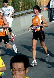 21-10-2007 ATLETIEK: ANA BEIJING MARATHON: BEIJING CHINA<br /> De Beijing Olympic Marathon Experience georganiseerd door NOC NSF en ATP is een groot succes geworden / Minister Gerda Verburg<br /> ©2007-WWW.FOTOHOOGENDOORN.NL