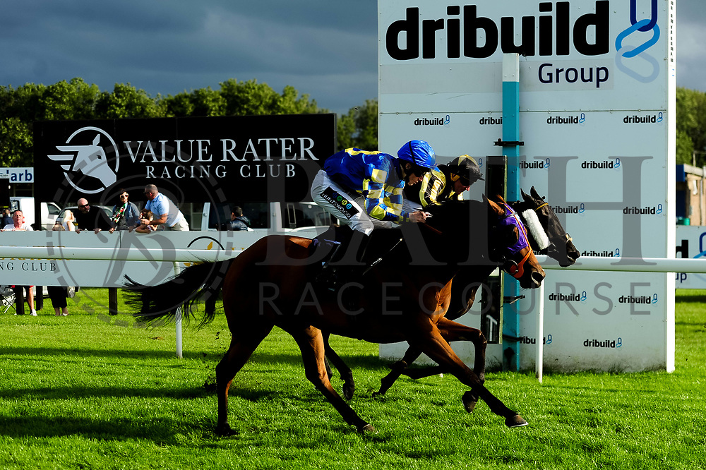 Raise A Little Joy ridden by Joshua Bryan and trained by J R Jenkins in the Kingstone Press Apple Maiden Handicap (Class 6) race. Tally's Song ridden by J F Egan and trained by Grace Harris  in the Kingstone Press Apple Maiden Handicap (Class 6) race.  - Ryan Hiscott/JMP - 17/08/2019 - PR - Bath Racecourse - Bath, England - Race Meeting at Bath Racecourse