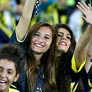 Fenerbahce's supporters during their Turkish Superleague soccer match Fenerbahce between Gaziantepspor at the Sukru Saracaoglu stadium in Istanbul Turkey on Saturday 25 August 2012. Photo by TURKPIX
