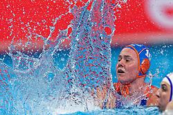 21-01-2020 HUN: European Water polo Championship, Budapest <br /> Slovakia - Netherlands 2—32 / Kitty Lynn Joustra #10 of Netherlands during LEN European Aquatics Waterpolo on January 21, 2020. SVK vs Netherlands in Duna Arena in Budapest, Hungary