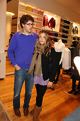 ISAAC FERRY and SCARLETT STRUTT at a party to celebrate the opening of the new Uniqlo store at 331 Oxford Street, London W1 on 6th November 2007.<br /><br />NON EXCLUSIVE - WORLD RIGHTS