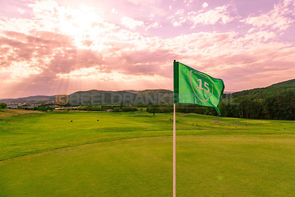 17-09-2015: Beroun Golf Resort in Beroun, Tsjechië.<br /> Foto: Het mooie heuvelachtige gebied