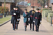 © under license to London News Pictures. LONDON, UK  17/03/2009. Princess Anne with the Irish Guards, Windsor. Photo credit should read Stephen Simpson/LNP.